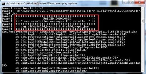 My Journey for Knowledge: [Solved] sbt.ResolveException: download failed: org.slf4j#slf4j-api;1.6.6!slf4j-api.jar   Mon Play Framework et Scala   Scoop.it