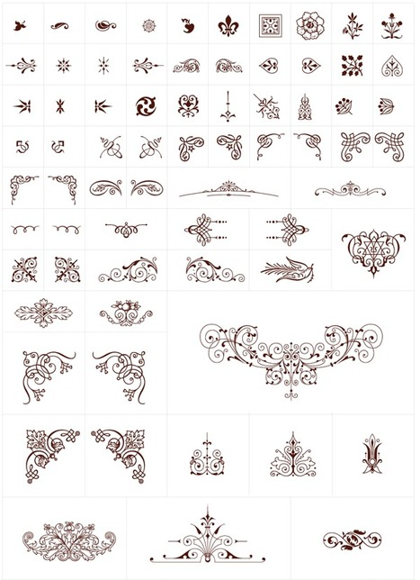250+ Free, Vintage Graphics: Flourish Vector Ornaments | Vectortuts+ | Ornaments | Scoop.it