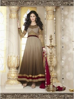 Annona Brown Georgette Designer Anarkali Suit 9810 | Online Suit Salwar Kameez |  Suit Price| Suit Sale | Apparel | Women Suit | Scoop.it