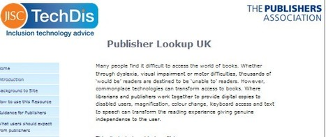 Publisher Lookup UK - a 'dating agency' to support disabled learners. | Inclusive teaching and learning | Scoop.it