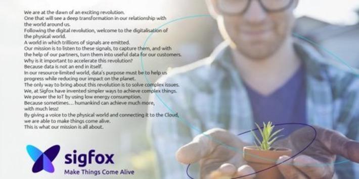 SigFox change d'identité visuelle et prépare une nouvelle levée de fonds | Internet du Futur | Scoop.it