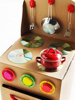 Cómo preparar una cocina de juguete con material reciclado | Mejoramiento Profesional | Scoop.it