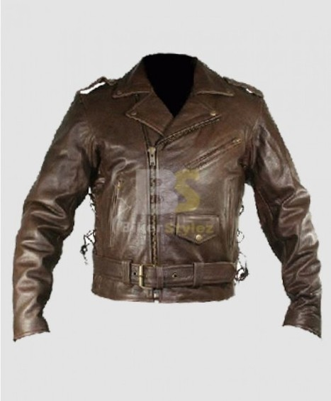 Exemplary Men's TOP GRADE Brown Bikers Jacket is ideal item. | Biker stylez leather jackets | Scoop.it