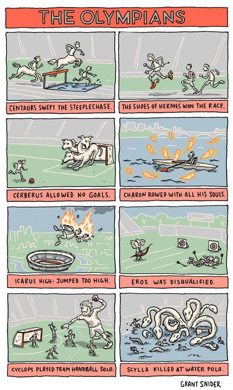 INCIDENTAL COMICS: The Olympians | Salvete discipuli | Scoop.it
