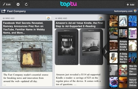 Wanted: A Smarter Alternative To Flipboard. Meet Taptu for iPad | Fast Company | Brand & Content Curation | Scoop.it