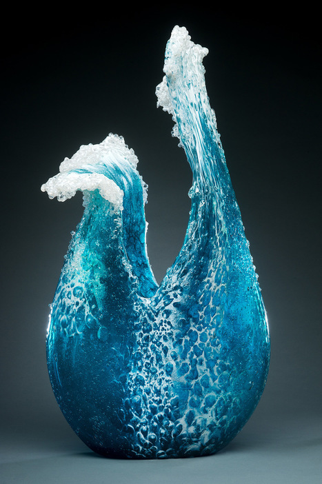 Crashing Glass Waves Frozen Into Elegant Vessels by Marsha Blaker and Paul DeSomma | What about? What's up? Qué pasa? | Scoop.it