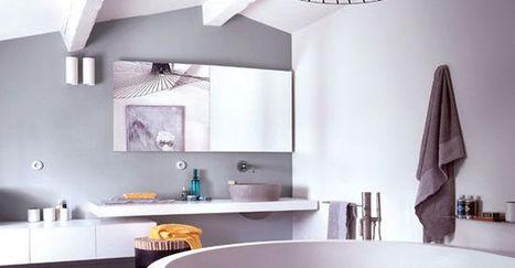 Des poutres pour sublimer la salle de bains - CôtéMaison.fr   Accessoires salle de bains   Scoop.it