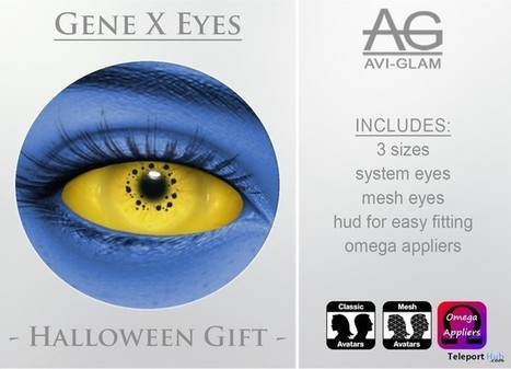 Gene X Eyes Halloween Gift by Avi-Glam | Teleport Hub - Second Life Freebies | Second Life Freebies | Scoop.it
