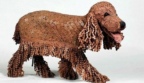 Dog-Gone Amazing Bicycle Chain Sculptures | Class 8 Recyclable Art | Scoop.it