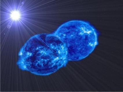 Observation of two stars so close to each other that they will end up merging into a supermassive star | Amazing Science | Scoop.it