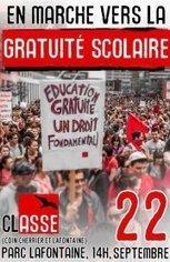 Manifestation nationale du 22 septembre: EN MARCHE VERS LA GRATUITÉ SCOLAIRE | Facebook | Musée de la grève étudiante au Québec 2012 - Museo de la huelga estudiantil en Québec 2012 | Scoop.it