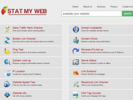 Stat My Web. Analyse rapide d un site Web | Time to Learn | Scoop.it