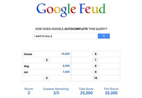 This Game Turns Google Autocomplete Into A Game Of FamilyFeud | Informal Learning: What Parents Need to Know | Scoop.it
