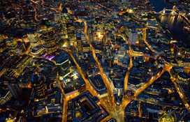 London from above, at night | Maths | Scoop.it