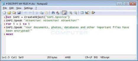Cerber : le ransomware qui vous parle | Sécurité Informatique | Scoop.it