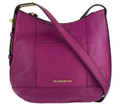 Tignanello Pebble Leather Crossbody with Turnlock Detail | Purses and Handbags | Scoop.it