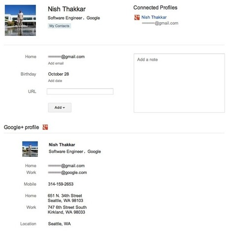 Official Google Blog: Gmail and Contacts get better with Google+ | GooglePlus Expertise | Scoop.it