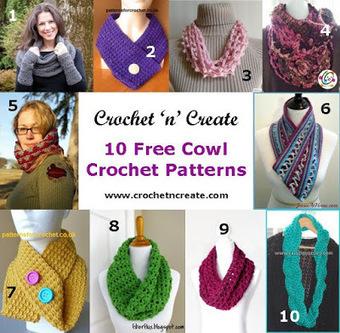 10 Free Cowl Crochet Patterns | Free Crochet Patterns | Scoop.it