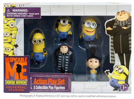 Despicable Me Action Play Set Toy Figures Gru Agnes Minions Minion Mayhem NEW | Action Figures Toy Gifts For Christmas | Scoop.it
