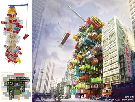 OVA studio enables traveling container hotel rooms with hive-inn - designboom   architecture & design magazine   Industrial Design   Scoop.it