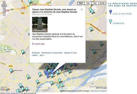 « La résistance dans les rues de Nantes » : une carte interactive à découvrir sur le blog « Vivre en temps de guerres » - [Château des ducs de Bretagne] | Histoire 2 guerres | Scoop.it