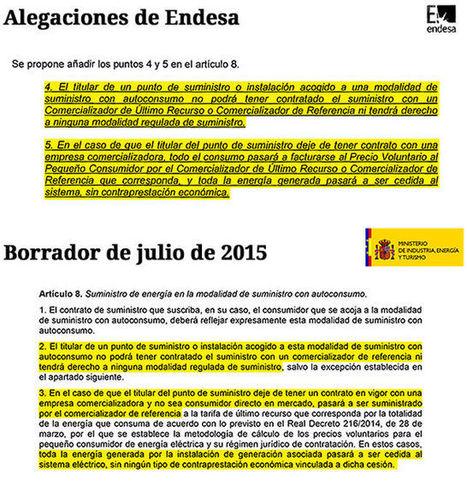 Soria copió a Endesa el intento de prohibir el autoconsumo eléctrico a los usuarios más vulnerables | El autoconsumo es el futuro energético | Scoop.it