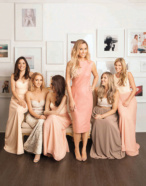 Lauren Conrad designed bridesmaid dresses for her bridesmaids | All about the dresses for wedding trends! | dressesfashion | Scoop.it