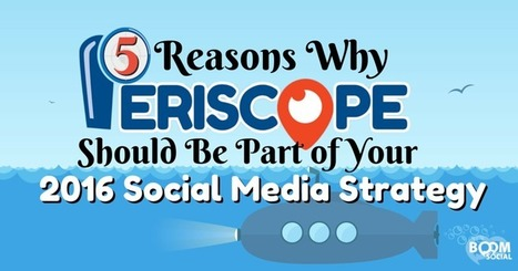 5 Reasons Why Periscope Should Be Part of Your 2016 Social Media Strategy | CIM Academy Digital Marketing | Scoop.it