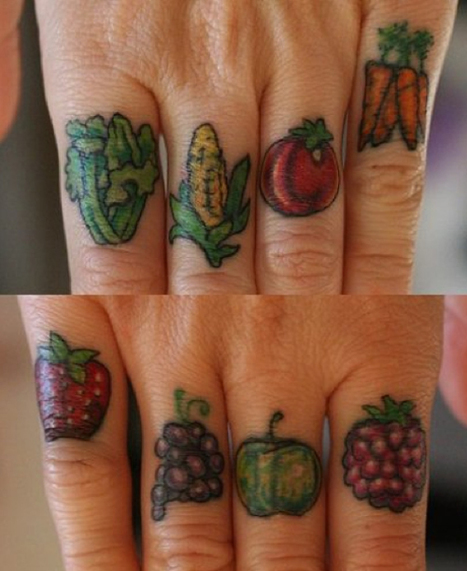 Delicious and Nutritious Fruit and Veggie Tattoos - Flavorwire » Photo Gallery | @FoodMeditations Time | Scoop.it