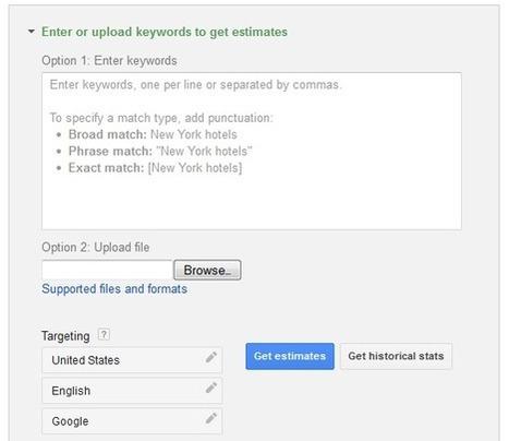 New AdWords Keyword Planner: Google Keyword Tool + AdWords Traffic Estimator | Google NonProfit Grants Help | Scoop.it