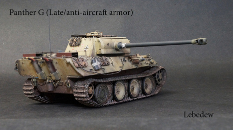 The G Panther is (The Late / of anti-aircraft's armor) <br/>of Dragon 1:35 | Military Miniatures H.Q. | Scoop.it