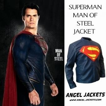 Smallville Superman Leather Jacket - AngelJackets | clark kent  smallville red leather shield jacket clothes worn smallville | Scoop.it