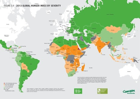 Map: The World's Most Hungry Countries | HumanGeo@Parrish | Scoop.it