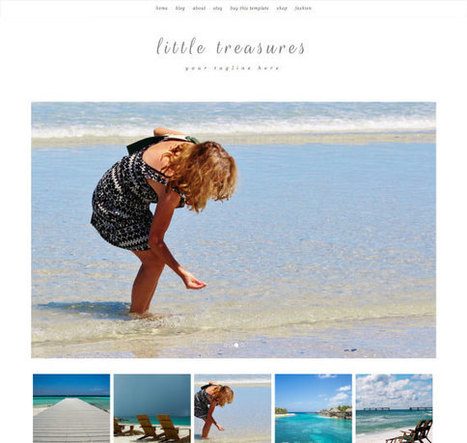 SALE!!  Responsive Blogger Template - Little Treasures - Blogspot Template - Premade Blogger Template - Blogger Theme - Instant Download | Blogger themes | Scoop.it