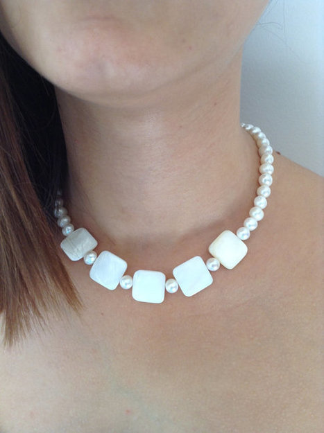 Pearl necklace, water pearl, Bridesmaid Necklace, Bridesmaid Jewelry, Wedding Jewelry,bridesmaid gift | wedding | Scoop.it