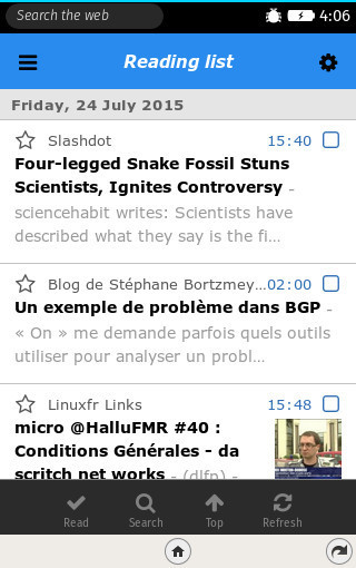 Tfe RSS: RSS reader for Firefox OS devices | RSS Circus : veille stratégique, intelligence économique, curation, publication, Web 2.0 | Scoop.it
