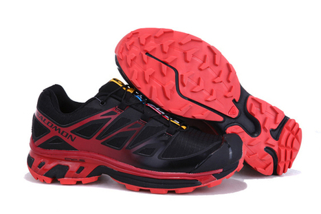 Salomon XT Wings 3 Trail Running Shoes Black Red | fashion collection | Scoop.it