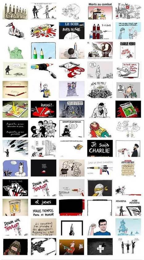 40 Illustrations d'artistes à chaud en soutien à Charlie Hebdo | Neadkolor.com | Articles du graphiste Nead Kolor | Scoop.it