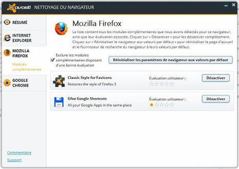 Avast! Browser Cleanup vous débarrasse des barres d'outils et modules complémentaires non recommandés   Geeks   Scoop.it