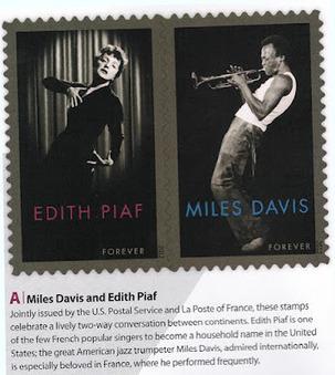 Oh les timbres !: Édith Piaf et Miles Davis   Jazz Plus   Scoop.it