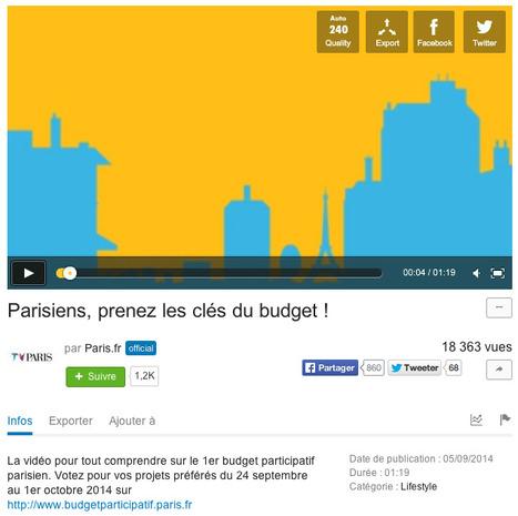 RAPPEL: Les Parisiens votent le budget participatif jusqu'au 1er octobre | whynotblogue | Scoop.it