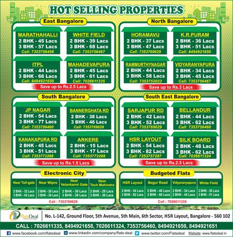 Hot Selling Properties-Flats Deal | Flats Deal|Apartments in Bangalore | Scoop.it
