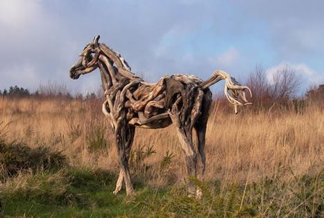 Driftwood Horse Sculptures   #Design   Scoop.it