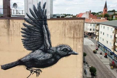 ROA New Mural - Nässjö, Sweden   Machinimania   Scoop.it