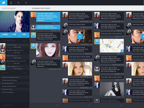 Un très beau concept pour le portail web de Twitter | MyPortail | Scoop.it