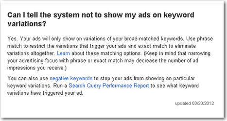 Match Type Mayhem: Did AdWords Just Exit the High Road? | ClickZ | Branding strategy | Scoop.it