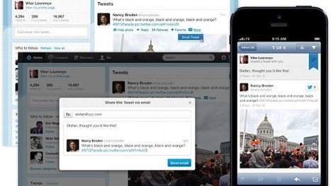 Twitter Adds Email Sharing; Facebook Adds Share Button to Apps - ABC News (blog) | Blogging with experts | Scoop.it