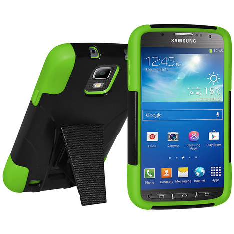 Amzer® Double Layer Hybrid Case with Kickstand - Green/ Black For Samsung Galaxy S4 Active GT-I9295 | Amzer Cell Phone Accessories | Scoop.it