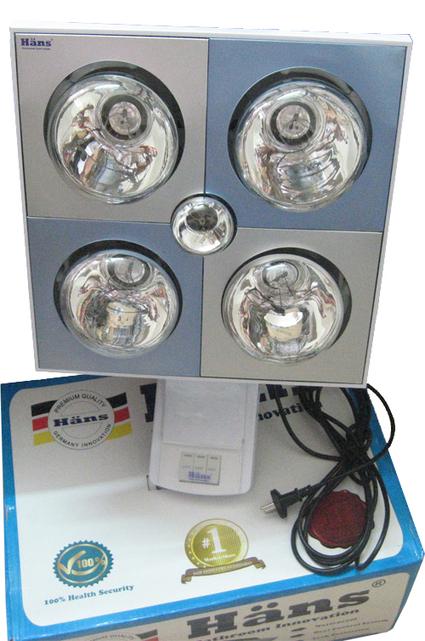 Đèn sưởi nhà tắm HANS (Đức) 4 bóng treo tường | thammyvien | Scoop.it