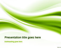 Free Green Abstract Curves PowerPoint Template | Free Powerpoint Templates | Training in Business | Scoop.it